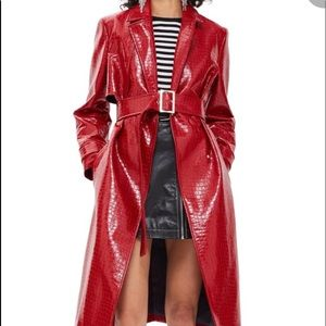 Crocodile Embossed Coat from Topshop size US 4 NEW